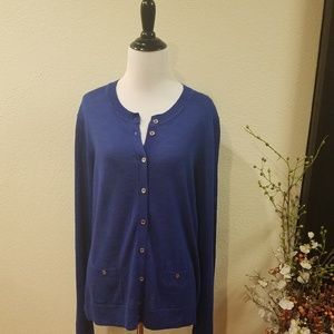 Tommy Hilfiger Blue Cardigan Sweater Large